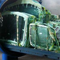 Autoclavagem de vidros blindados