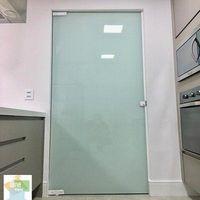 Divisória de vidro cozinha e lavanderia