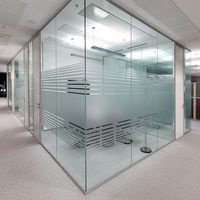 Divisória de vidro temperado