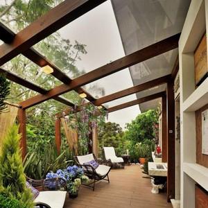 Telhado de vidro para varanda